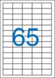 A4 Etikett, univerzális, 38x21,2 mm, VICTORIA, 6500 etikett/csomag