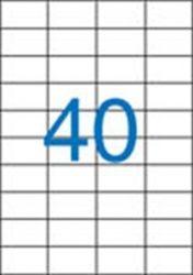 A4 Etikett, univerzális, 52,5x29,7 mm, VICTORIA, 4000 etikett/csomag
