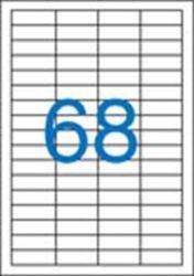 A4 Etikett, univerzális, 48,5x16,9 mm, VICTORIA, 6800 etikett/csomag