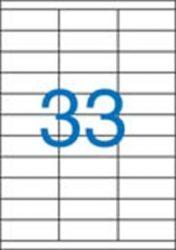 A4 Etikett, univerzális, 70x25,4 mm, VICTORIA, 3300 etikett/csomag