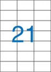 A4 Etikett, univerzális, 70x42,4 mm, VICTORIA, 2100 etikett/csomag