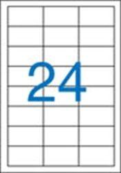 A4 Etikett, univerzális, 64,6x33,8 mm, VICTORIA, 2400 etikett/csomag