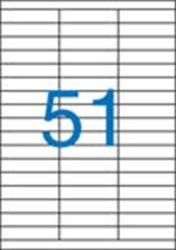 A4 Etikett, univerzális, 70x16,9 mm, VICTORIA, 5100 etikett/csomag