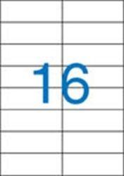 A4 Etikett, univerzális, 105x37 mm, VICTORIA, 1600 etikett/csomag