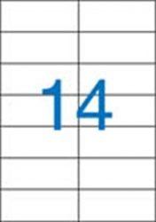 A4 Etikett, univerzális, 105x42,4 mm, VICTORIA, 1400 etikett/csomag