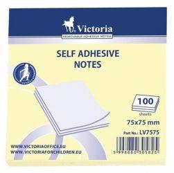 Victoria Öntapadó jegyzettömb 75x75mm