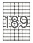 A4 Etikett, kerekített sarkú, 25,4x10 mm, APLI, 189 db/lap